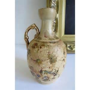 vintage antique ceramic floral vase painted flower