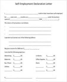 Employment Declaration Letter 102 Sle Letter Formats