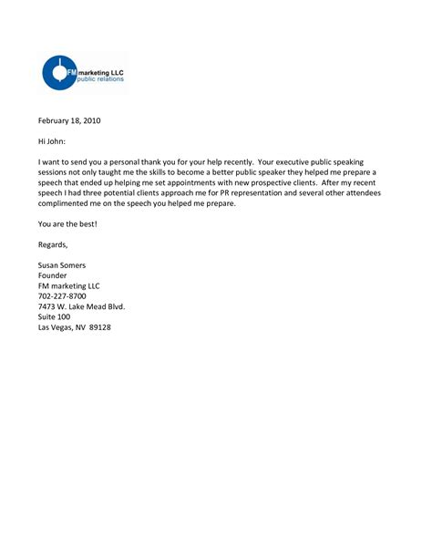 Business Referral Introduction Letter thank you for your referral letters benjaminimages