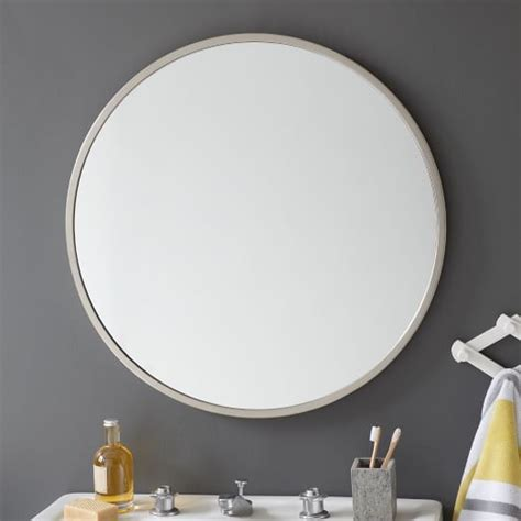 round bathroom wall mirrors downstairs bathroom round silver mirror grey paint