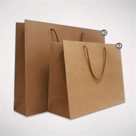 a3 brown landscape paper bag 12pcs bags gift