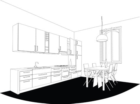 design elements creating style through kitchen set of kitchen furniture design elements vector 04 life