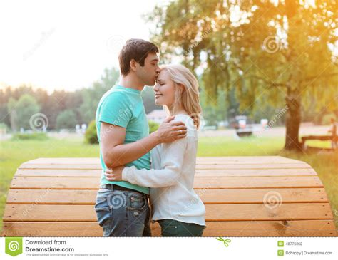 Cauple Senny in outdoors stock photo image 48775362