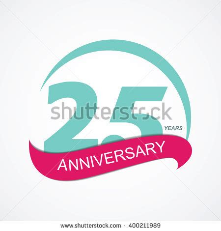 libro illustration now 25th anniversary 25th years anniversary celebration design stock vector 389916412 shutterstock