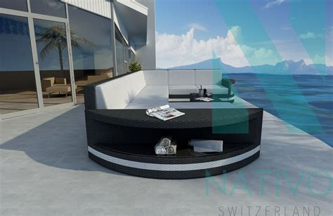 divano rattan divano per il giardino atlantis v1 nativo mobili in rattan