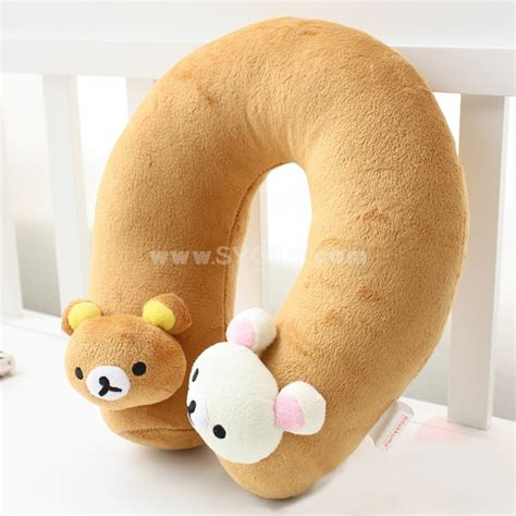 rilakkuma u neck pillow plush travel pillow sygmall