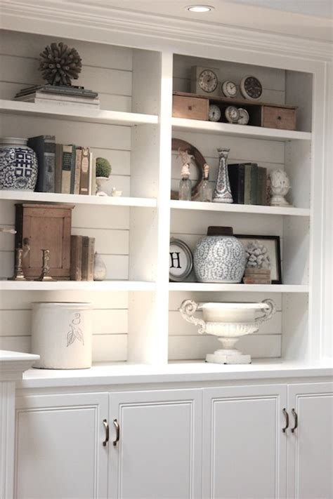 white built in cabinets cottage living room benjamin