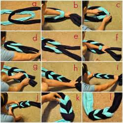 How To Fold An Infinity Scarf Braided Scarf Made From T Shirts Diy