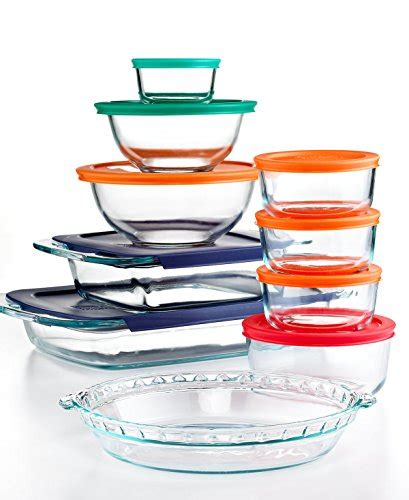 pyrex glass food storage containers pyrex bake and store 19 food storage container set