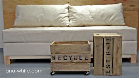 making your own couch ana white storage sofa diy projects