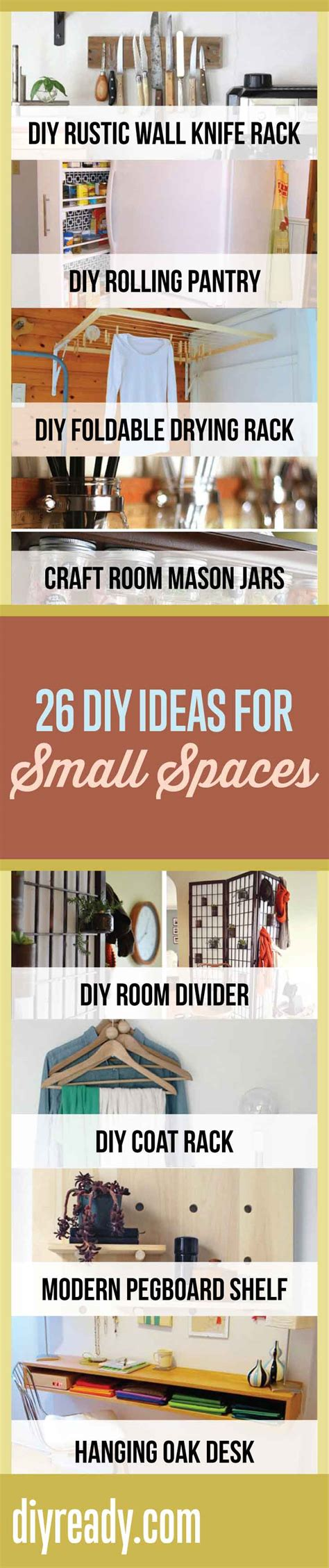 ideas for small spaces 26 ingenious diy ideas for small spaces diy ready