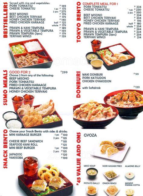 tokyo buffet menu tokyo tokyo menu menu for tokyo tokyo sm city edsa