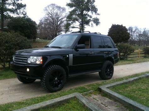 range rover lifted l322 range rover w 33 quot bf goodrich tires and lift kit