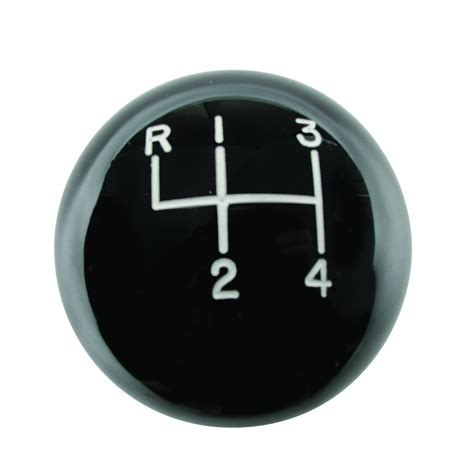 Hurst Knob by Hurst 1630103 Classic Shifter Knob 4 Speed Black 3 8 16