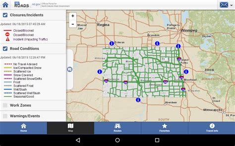 dakota travel map nd roads dakota travel android apps on play