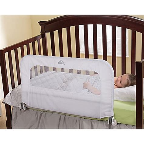 Convertible Crib Bed Homesafe By Summer Infant 174 2 In 1 Convertible Crib Rail Bedrail Buybuy Baby