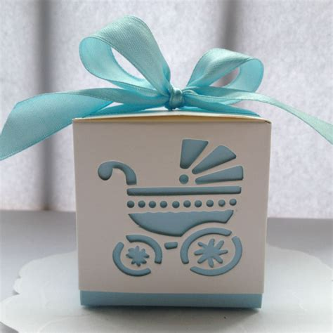 Wholesale Baby Shower Favor Boxes by Wholesale 10pcs Blue Quot Baby S Day Out Quot Laser Cut Carriage