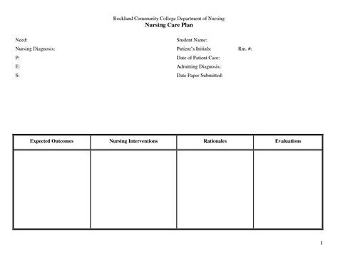 free nursing care plan templates 6 best agenda templates