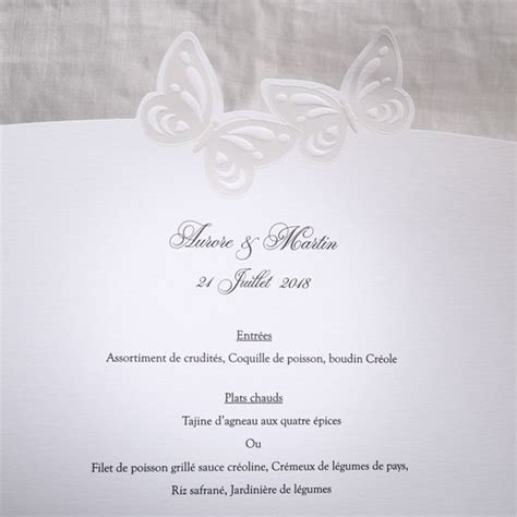 Mariage Et Blanc Thème by Menu Mariage 19502 Fly Me To The Moon Faire Part Selection
