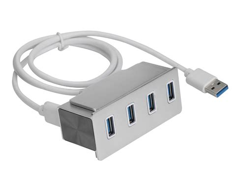 Usb Hub 4 Cabang Simple portable high speed 4 port usb 3 0 hub with led indicators and easy to be fixed on the pc or
