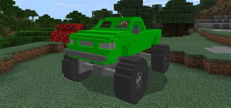 minecraft army truck monstertruck addon minecraft pe mods addons