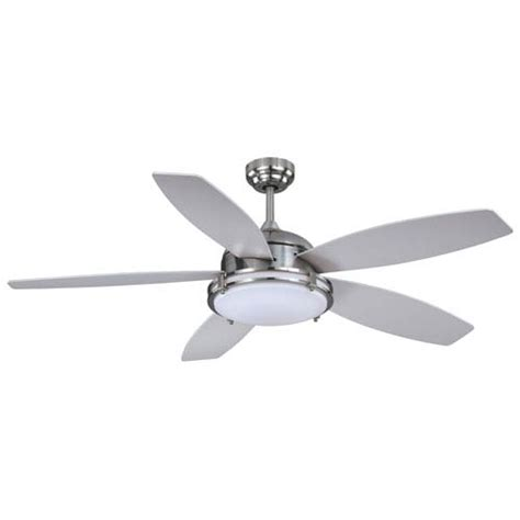Silver Ceiling Fan With Light by 806f0039