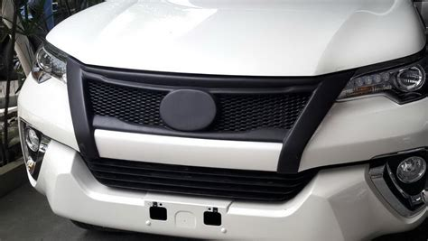 All New Fortuner Grill Depan Activo Front Grill Activo toyota new fortuner 201 5 16 matt black abs plastic front grille net v2 ebay