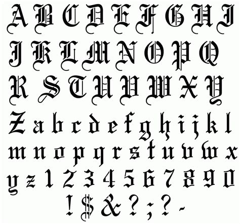 tattoo fonts alphabet font creator free fonts and lettering