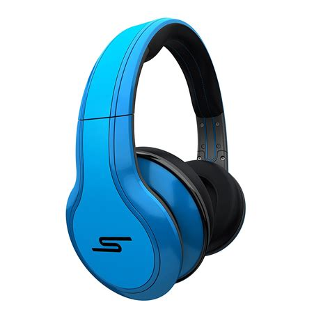 Headset Blue by 50 cent wired ear headphones blue by sms audio discontinued by