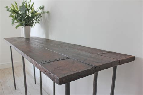 console table used as dining table drop leaf console dining table drops leaves consoles tables spaces with bespoke industrial chic