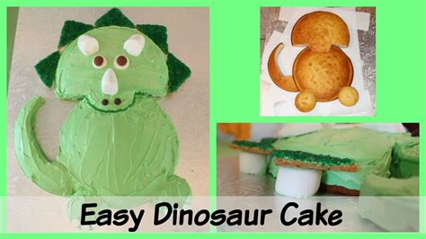How To Make A Dinosaur Cake Template by Easy Triceratops Dinosaur Birthday Cake