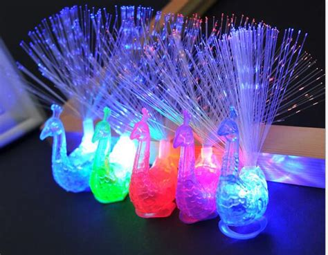 peacock lights 20pcs lot new peacock finger lights colorful peacock