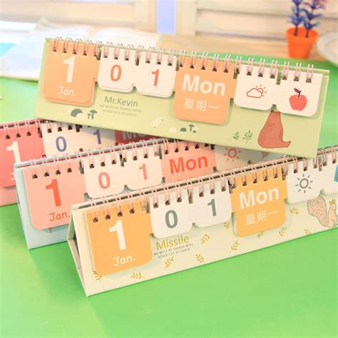 Aliexpress Com Buy Free Shipping Brief Small Perpetual Small Desk Calendar