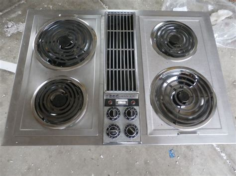 Downdraft Cooktop Electric Jenn Air C221 Stainless Downdraft Cooktop With Grill Unit
