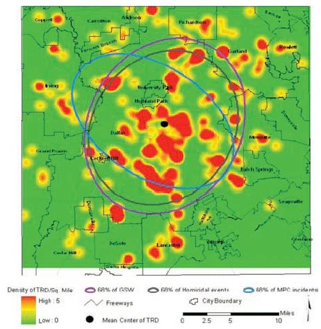 spatial analysis of injury related deaths in dallas county