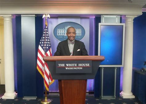 White House Press Briefing Room by D Mccoy Covers His Arts Story At The White