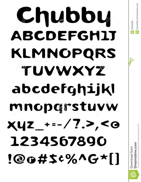 eps format fonts chubby font royalty free stock photo image 30230085