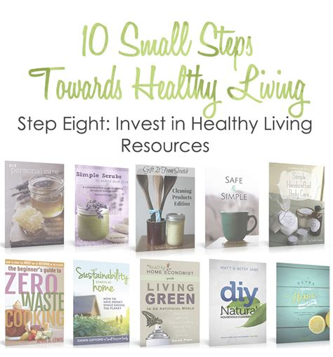 healthy living small step 8 invest in resources