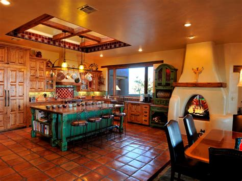 Mexican Style Kitchen Design charming southwestern style kitchen this spacious southwestern kitchen