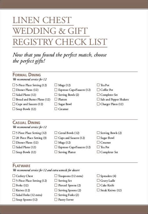Wedding Checklist Registry by Wedding Registry Checklists Free Sles In Pdf