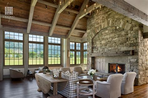 rustic great room rustic great room with cathedral ceiling by locati