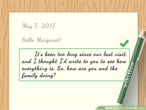 how to end a friendly letter how to write a friendly letter with sle letters wikihow