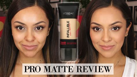 L Oreal Foundation Infallible Pro Matte l oreal infallible pro matte foundation review demo