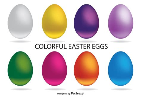 colorful easter eggs colorful easter egg vectors free vector