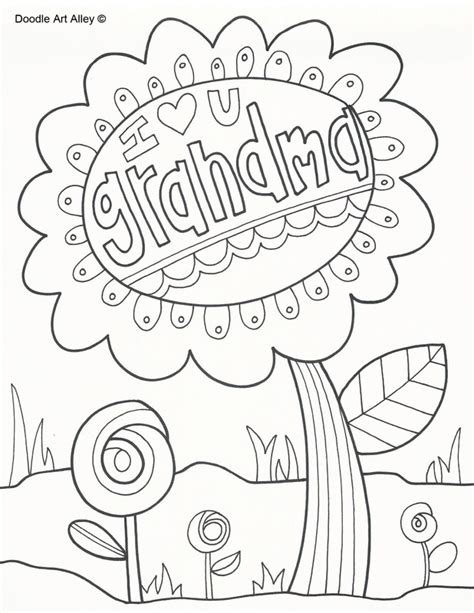 printable coloring pages for grandma holiday coloring pages doodle art alley