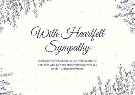white papayawhip leaves border sympathy card templates