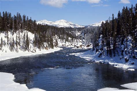 winter images yellowstone digital slide file