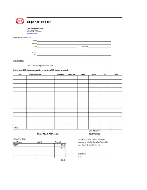 blank report template blank expense report helloalive