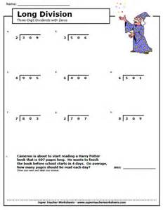 collections of free division worksheets for 4th grade