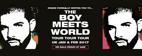 drake uk tour drake announces the boy meets world uk tour gigs and
